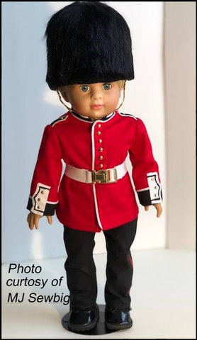 "Military Prep School Uniform 18"" Doll Clothes Pattern"