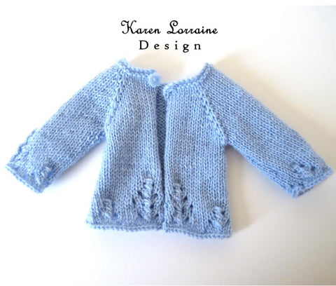 Luxe Cardigan 14-14.5 Inch Doll Clothes Knitting Pattern