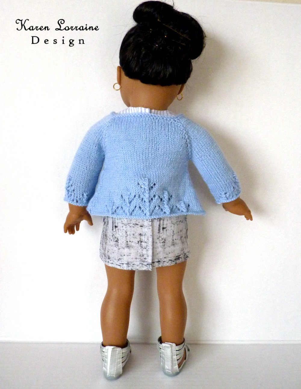 Luxe Cardigan Knitting Pattern 18 inch Dolls   Pixie Faire