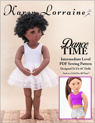 Karen Lorraine Design A Girl For All Time Dance Time Pattern For A Girl For All Time Dolls Pixie Faire