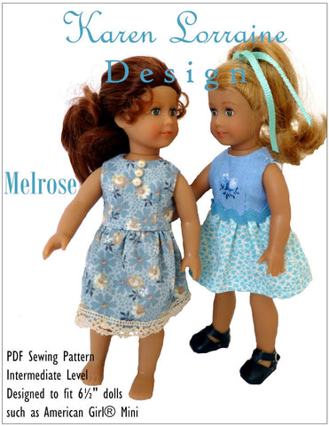"Melrose Dress for 6"" Mini Dolls"