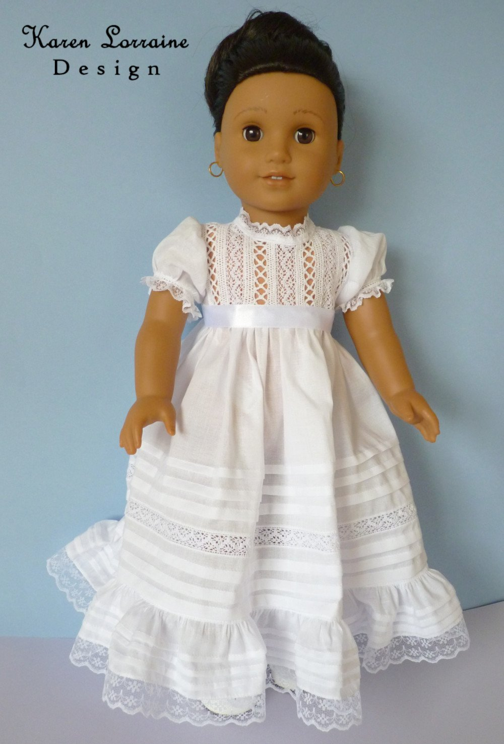 3df729223e4fb Heirloom Lace Doll Clothes Pattern for 18