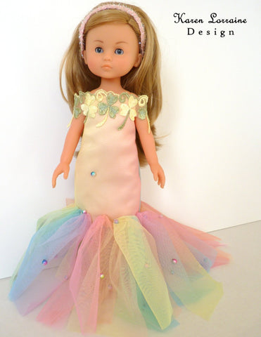 Iris Dress 13-14.5 Inch Doll Clothes Pattern