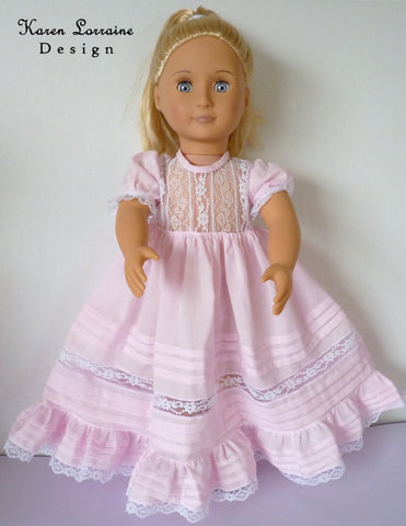 "Heirloom Lace Dress 18"" Doll Clothes Pattern"