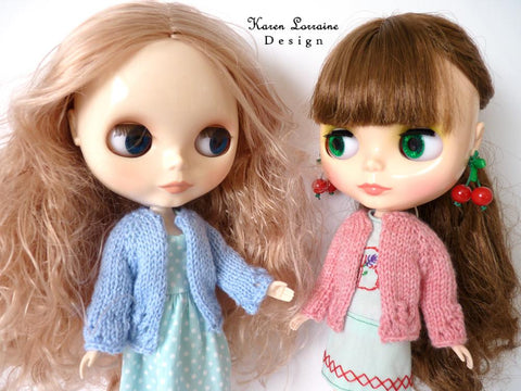 "Luxe Cardigan Knitting Pattern for 11"" Blythe Dolls"