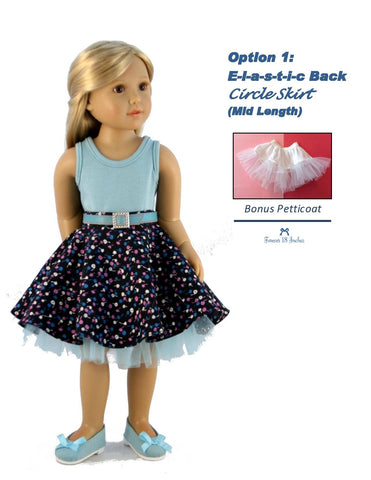 Elastic-Back Circle Skirt for Kidz N Cats Dolls