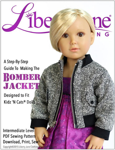 Liberty Jane Kidz n Cats Bomber Jacket  For Kidz N Cats Dolls Pixie Faire