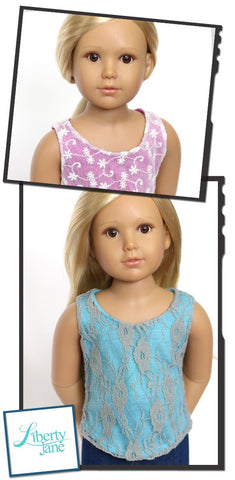 Lace Overlay Tank Top Pattern For Kidz N Cats Dolls