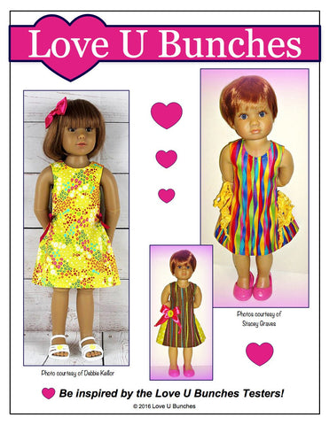 Love U Bunches Kidz n Cats Polka Dot Party Dress for Kidz N Cats Dolls Pixie Faire