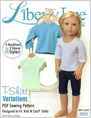 T-Shirt Variations Pattern for Kidz N Cats Dolls