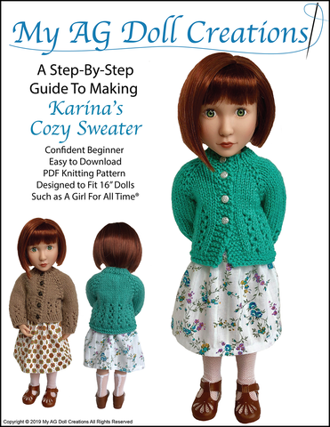 Karina's Cozy Sweater AGAT Doll Knitting Pattern