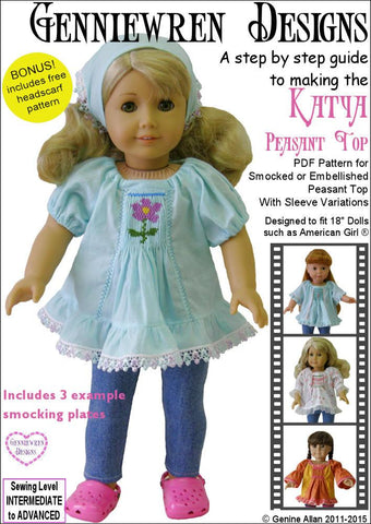 "Katya Peasant Top 18"" Doll Clothes"