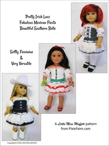 "Kentucky Blue 18"" Doll Clothes Pattern"