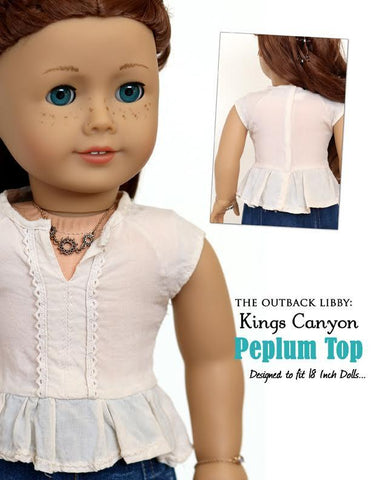 "Kings Canyon Peplum Top 18"" Doll Clothes Pattern"