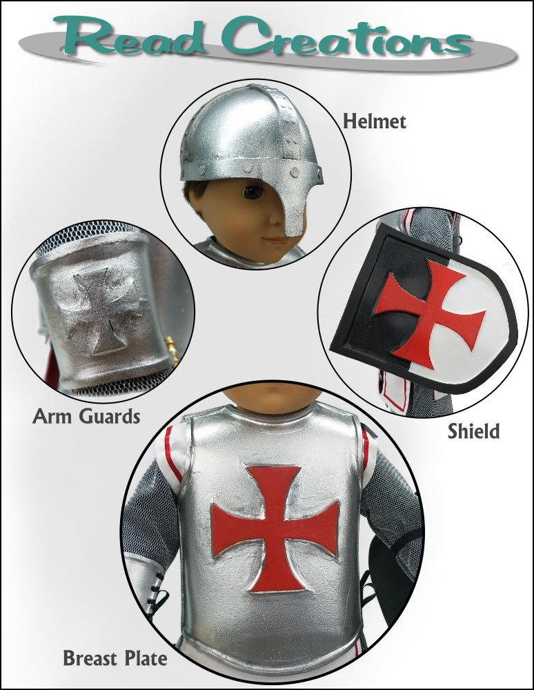 Readcreations Knights Armor Doll Clothes Pattern 18 Inch Dolls Such