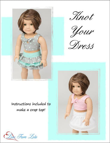 "Knot Your Dress 18"" Doll Clothes Pattern"