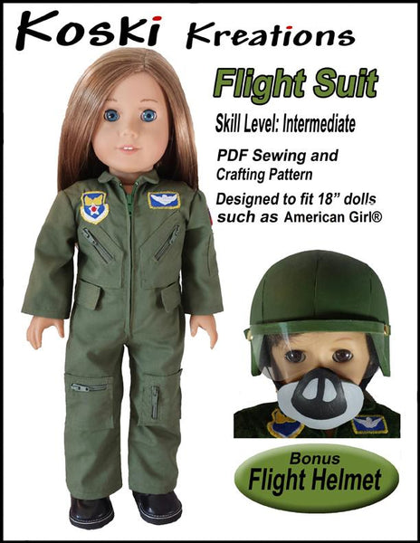 Koski Kreations Flight Suit Doll Clothes Pattern 18