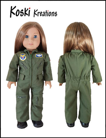 Flight Suit Space Camp STEM outfit American Girl Doll Clothes Pattern