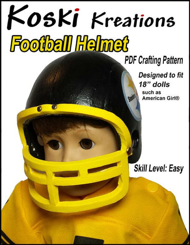"Football Helmet 18"" Doll Accessory Pattern"