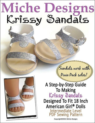 "Krissy Sandals 18"" Doll Shoes"