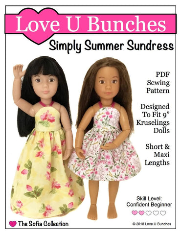 Love U Bunches Kruselings Simply Summer Sundress Pattern for Kruselings Dolls Pixie Faire