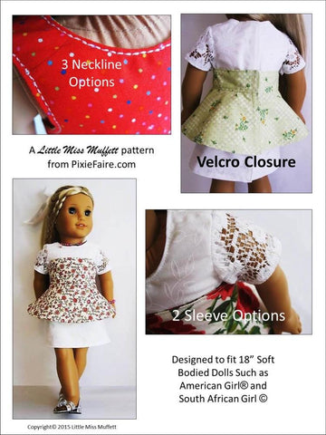 "Kyra's Choice 18"" Doll Clothes Pattern"