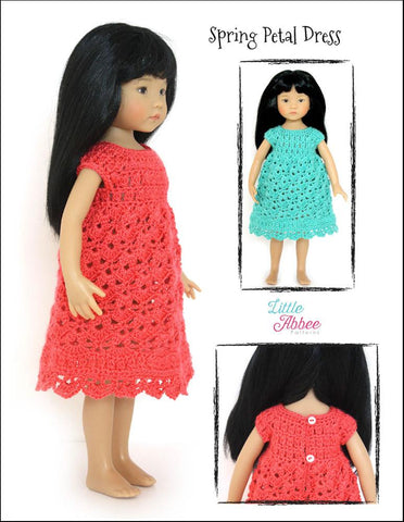 Spring Petal Dress Crochet Pattern for Little Darling Dolls