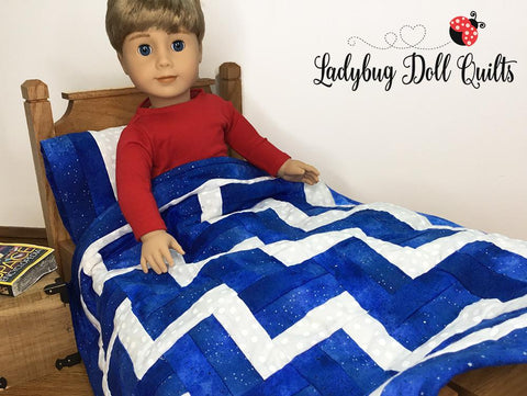 "On The Rails 18"" Doll Quilt Pattern"