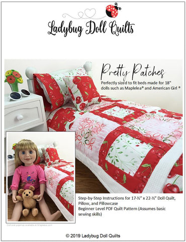 "Pretty Patches 18"" Doll Quilt Pattern"
