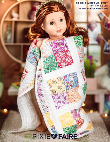 "Rosie's Windows 18"" Doll Quilt Pattern"
