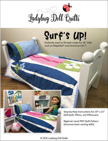 "Surf's Up! 18"" Doll Quilt Pattern"