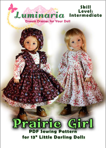Prairie Girl Pattern for Little Darling Dolls
