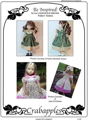 School Girl Pattern for Little Darling Dolls