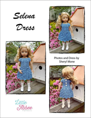 Selena Dress Pattern for Little Darling Dolls