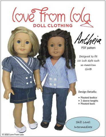 "Antheia 18"" Doll Clothes Pattern"