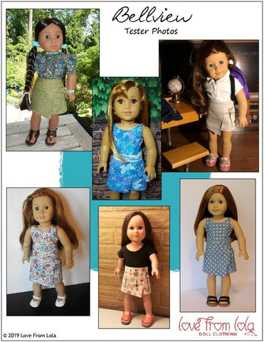 "Bellview Dress and Romper 18"" Doll Clothes Pattern"