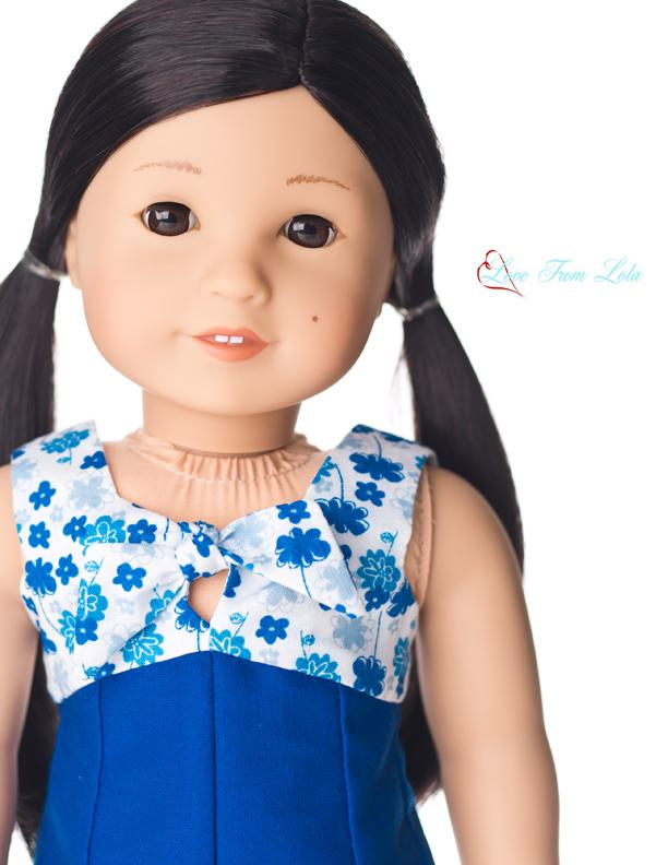 Love From Lola Knot Your Dress Doll Clothes Pattern 18