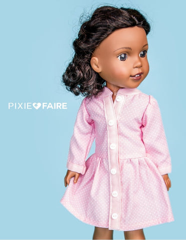 "Peyton's Pretty Dress 14.5"" Doll Clothes Pattern"
