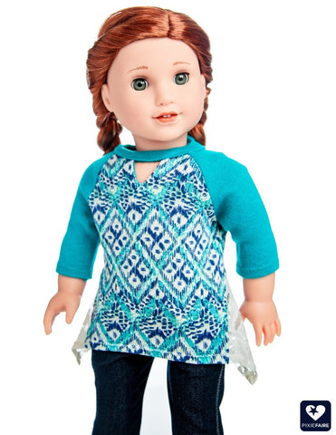 "The Violet Top 18"" Doll Clothes Pattern"