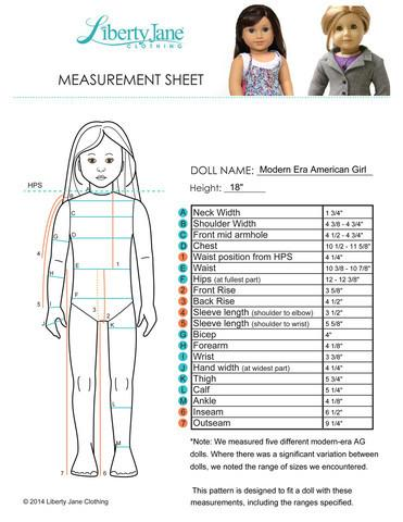 "Abbey Road A-Line Dress 18"" Doll Clothes Pattern"