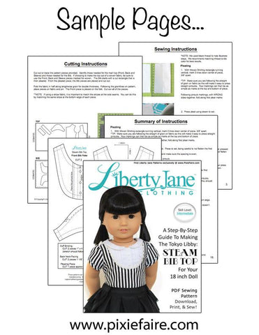 "Steam Bib Top 18"" Doll Clothes Pattern"