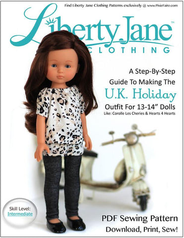U.K. Holiday Outfit for Les Cheries and Hearts for Hearts Girls Dolls