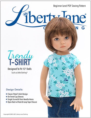 FREE T-Shirt Pattern For Little Darling Dolls