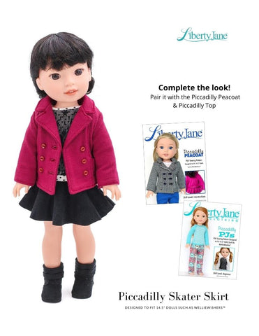 Piccadilly Skater Skirt 14.5 Inch Doll Clothes Pattern