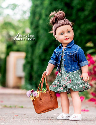 Liberty Jane Denim Jacket 18 inch Doll Clothes pattern for American Girl
