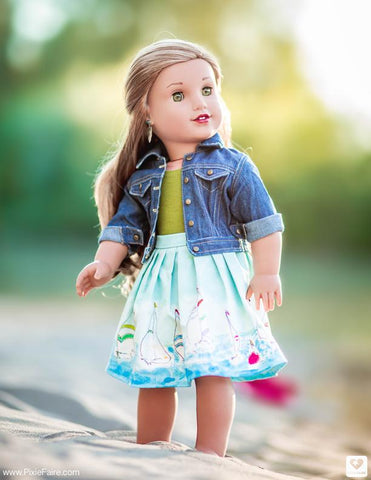"Denim Jacket 18"" Doll Clothes Pattern"