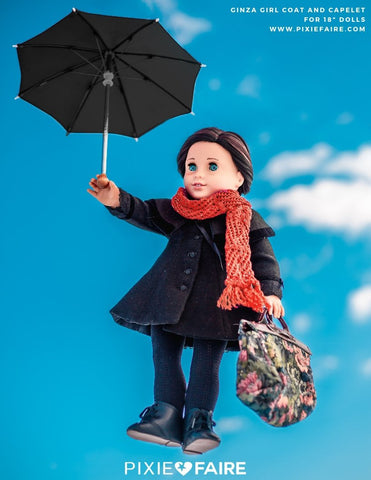 Liberty Jane Ginza Girl Coat Used to recreate the Mary Poppins look for 18 inch dolls