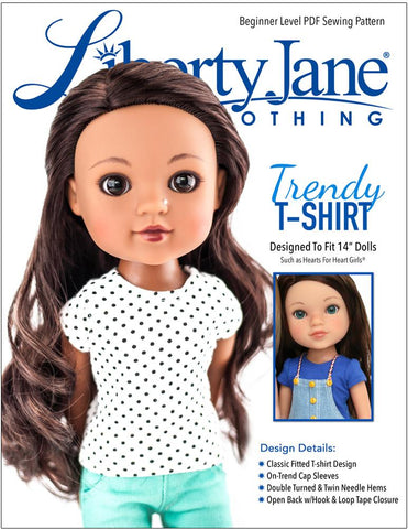 FREE T-Shirt Pattern for 13 -14 inch Dolls