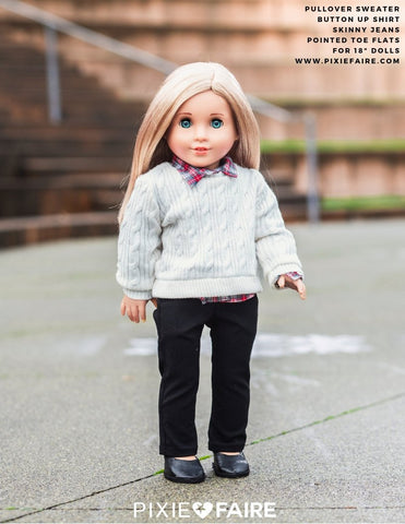 "Skinny Jeans 18"" Doll Clothes Pattern"