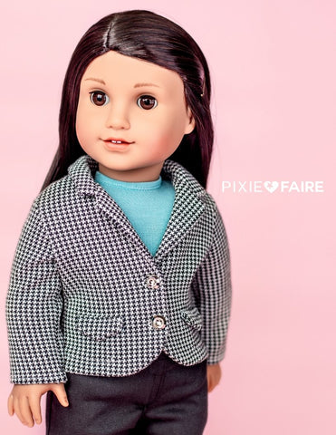 "Schoolboy Blazer 18"" Doll Clothes Pattern"